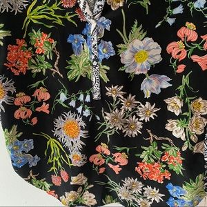 Anthropologie Tops - Anthro TINY Pattern Block Top Floral + Paisley
